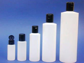 Frascos cilíndrico de plástico