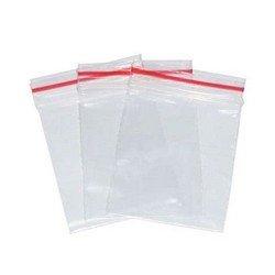 Saco plástico com fecho hermético