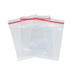 Sacos plásticos com adesivo