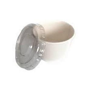 Pote de papel biodegradável com tampa