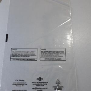 Saco de PP impresso aba adesiva